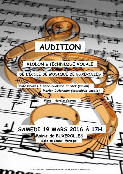 audition 19 mars