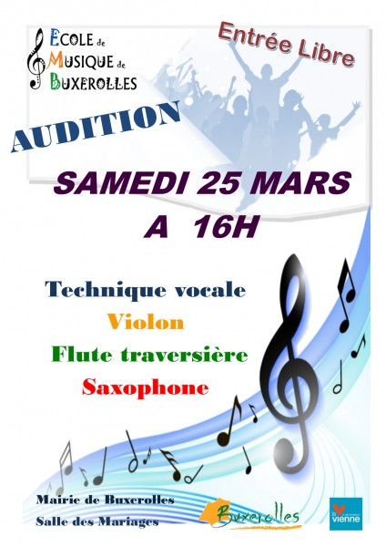 AUDITIONS AFFICHES 25 03 17