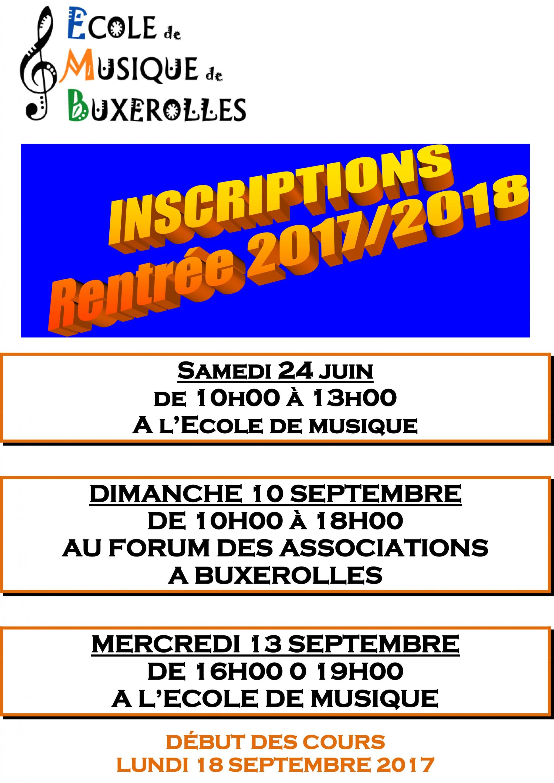 AFFICHE INSCRIPTIONS 2017 2018