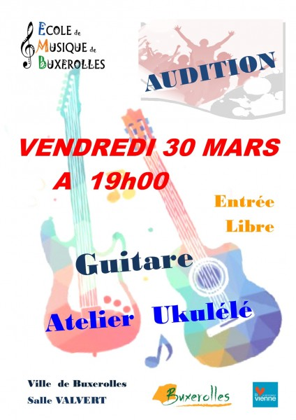 AUDITIONS guitare 30 mars 2018