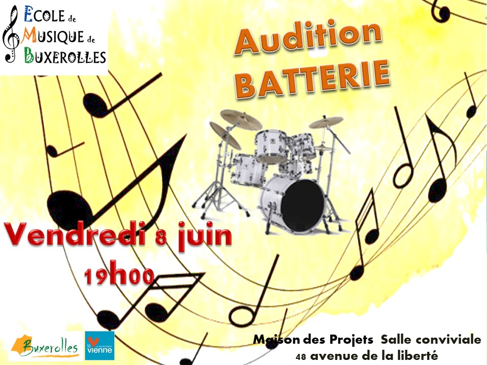 batterie audition 8 juin 2018
