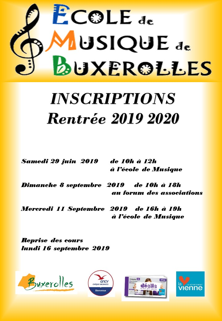 affiche inscriptions 2019-2020