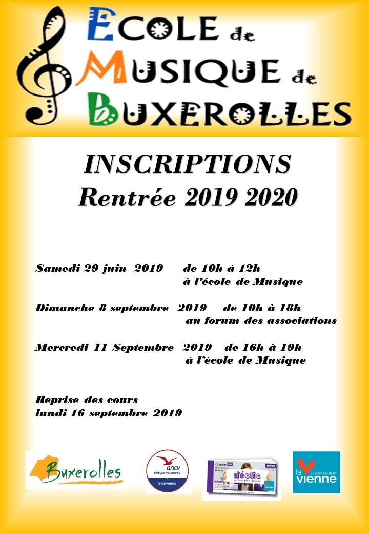 affiche inscriptions 2019-2020