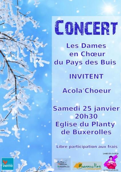 Concert de la chorale des Dames au Pays des Buis