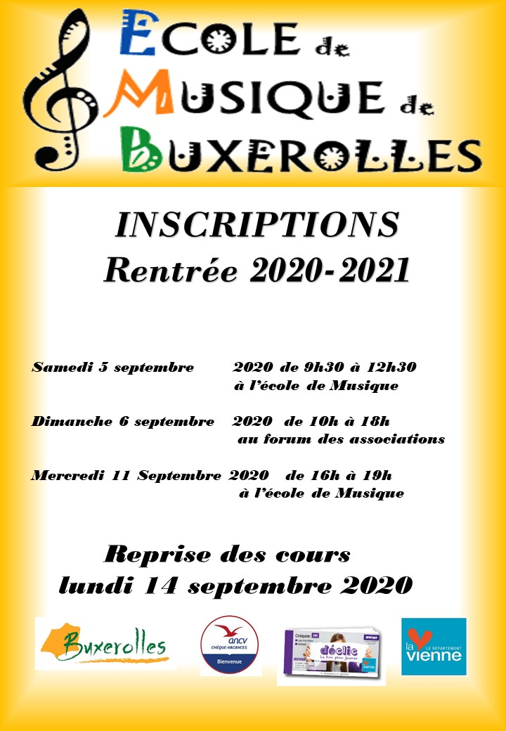 affiche inscriptions 2020-2021